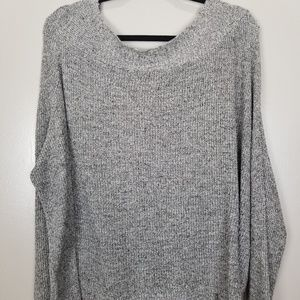 Free People oversize crop sweater size x small